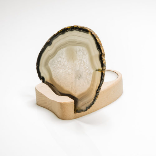 Teelichthalter Achatscheibe – Einzelstück 154-007