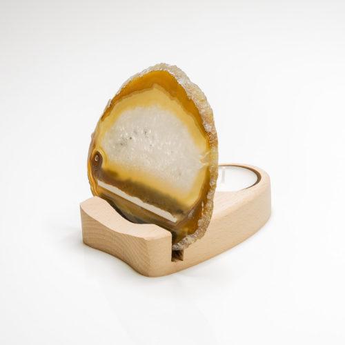 Teelichthalter Achatscheibe – Einzelstück 154-004