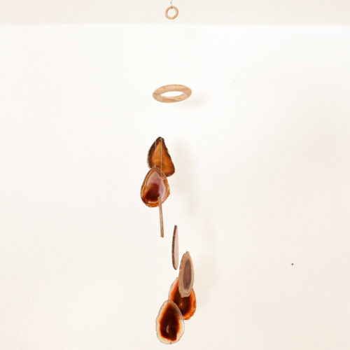 """Achat Windspiel """"braun"""", 40 cm mit 7 natürlichen Achat Scheiben"""