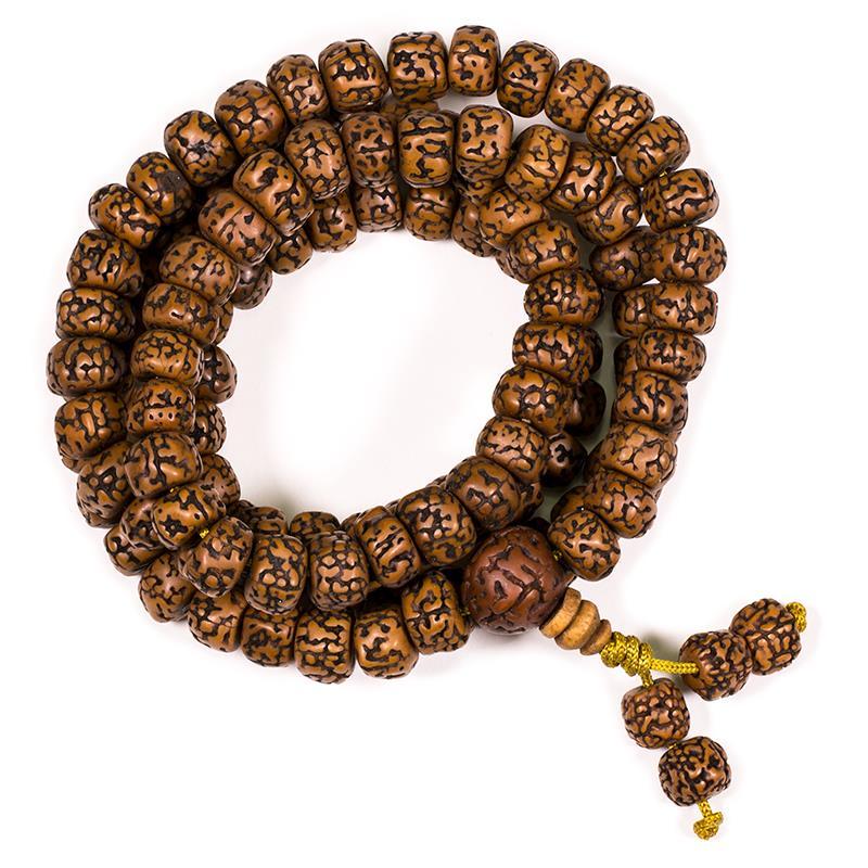 Mala Rudraksha 108 Perlen – 1cm im Säckchen