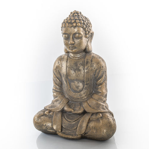 Buddha Statue - sitzend, meditierend - Outdoor, Magnesiumoxid, 27 x 18 x 38cm