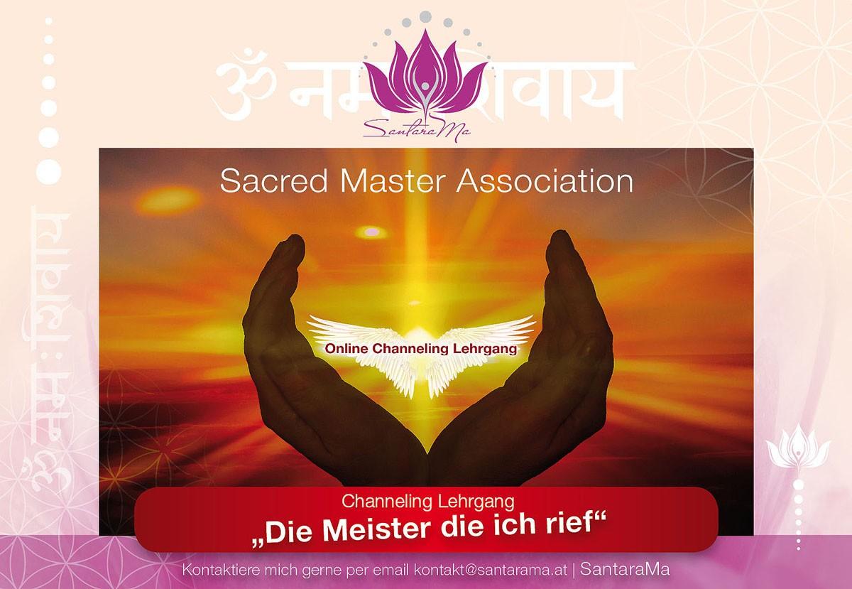 Seminare Sacred Master Assocition- Dieser Channeling Lehrgang ist ein lichtvoller, reinigender und heilsamer Selbsterfahrungsprozess, sowie eine Reise zur Dir selbst. Ich kombiniere dabei Channeling und energetische Heilkunst.