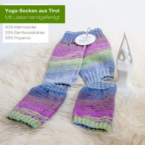 Hochwertige Yoga-Socken mit Merino und Bambusfaser - seidenweich und atmungsaktiv.