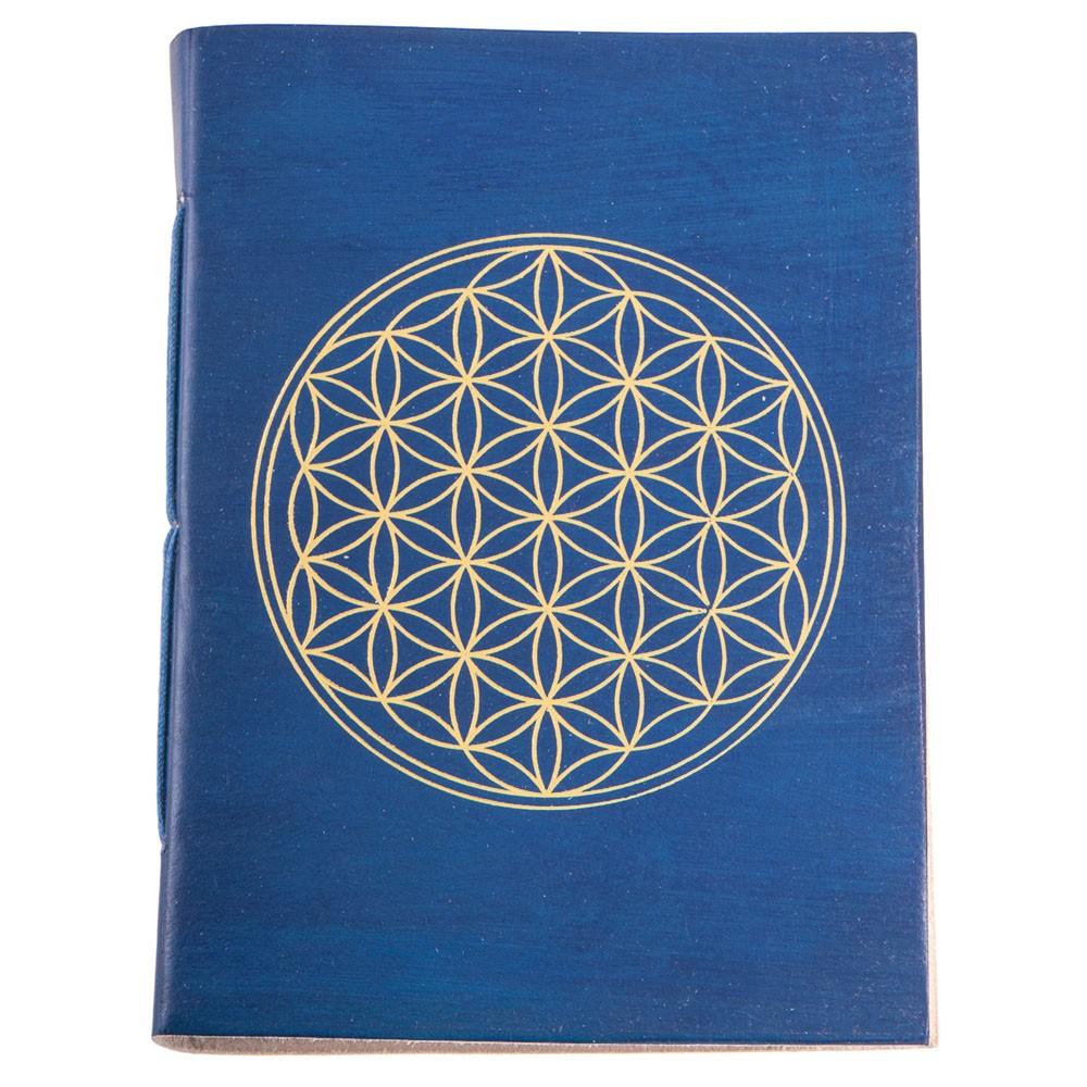 Schreibbuch Lebensblume bau/gold